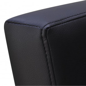 Fauteuil Relax HAPPY-FEET Noir + repose-pieds - Similicuir  - 7