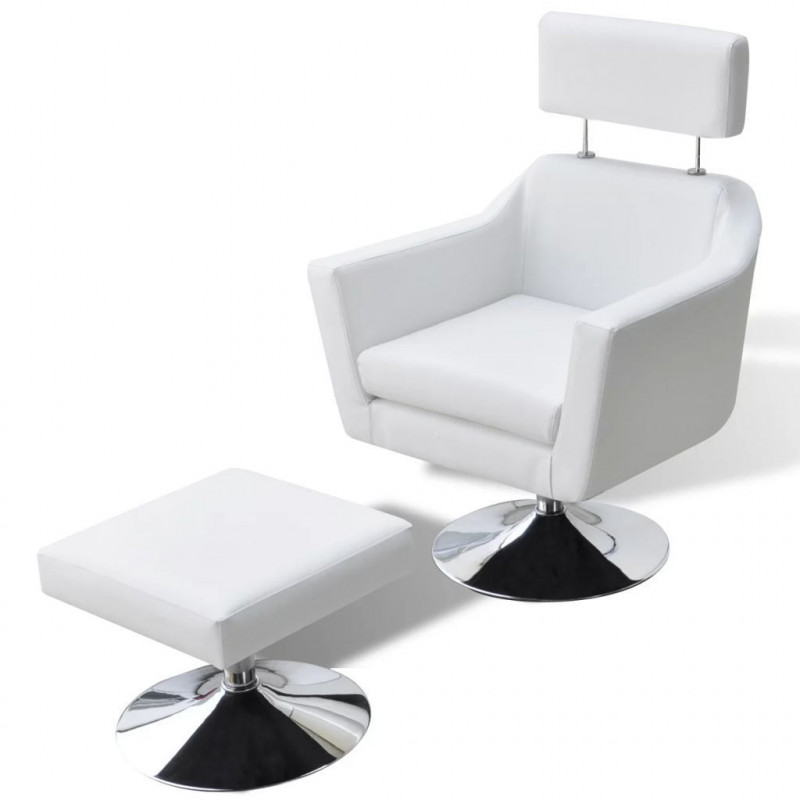 Fauteuil Relax HAPPY-FEET + repose-pieds - Similicuir  - 8
