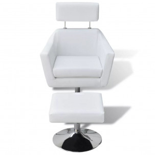 Fauteuil Relax HAPPY-FEET + repose-pieds - Similicuir  - 11