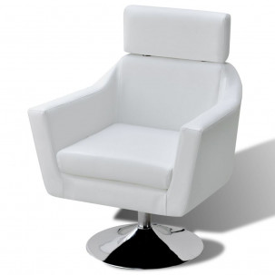 Fauteuil Relax HAPPY-FEET + repose-pieds - Similicuir  - 12