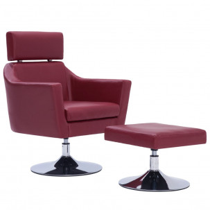 Fauteuil Relax HAPPY-FEET + repose-pieds - Similicuir  - 15