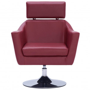 Fauteuil Relax HAPPY-FEET + repose-pieds - Similicuir  - 18