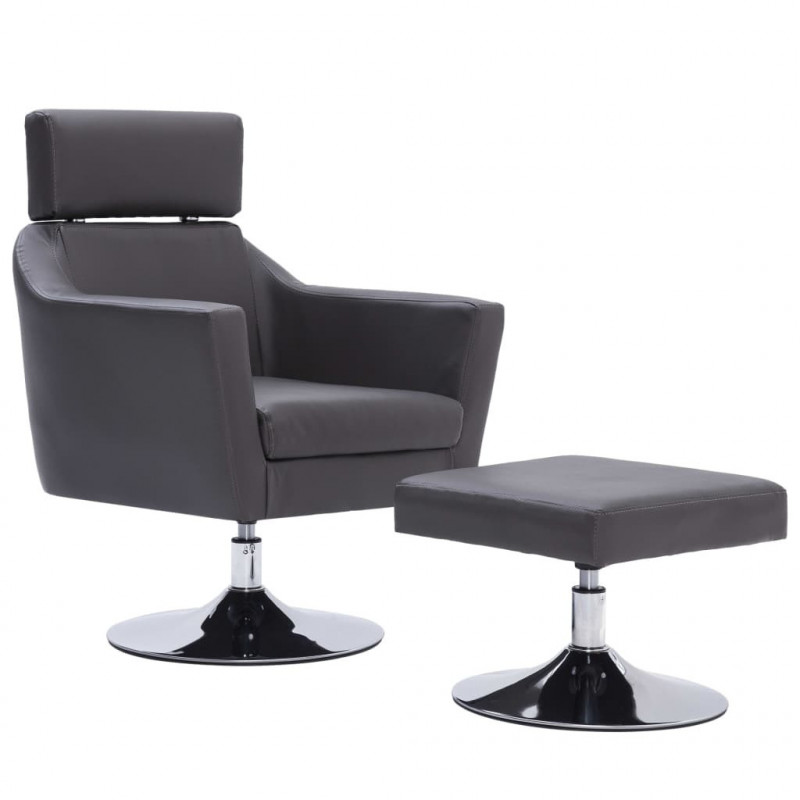 Fauteuil Relax HAPPY-FEET + repose-pieds - Similicuir  - 22