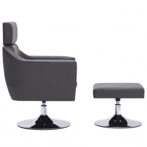 Fauteuil Relax HAPPY-FEET + repose-pieds - Similicuir  - 23