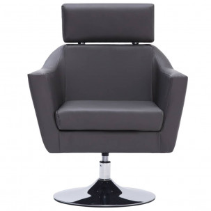 Fauteuil Relax HAPPY-FEET + repose-pieds - Similicuir  - 25