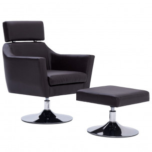 Fauteuil Relax HAPPY-FEET + repose-pieds - Similicuir  - 29