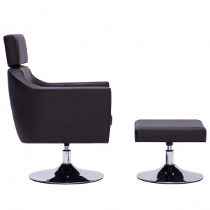 Fauteuil Relax HAPPY-FEET + repose-pieds - Similicuir  - 30