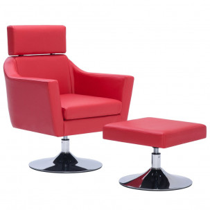 Fauteuil Relax HAPPY-FEET + repose-pieds - Similicuir  - 36