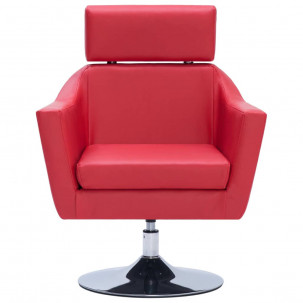 Fauteuil Relax HAPPY-FEET + repose-pieds - Similicuir  - 39